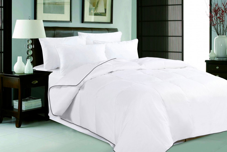 Image of From £18.99 instead of £92.99 for a single 4.5 tog goose feather and down duvet from Direct Warehouse and save up to 80%