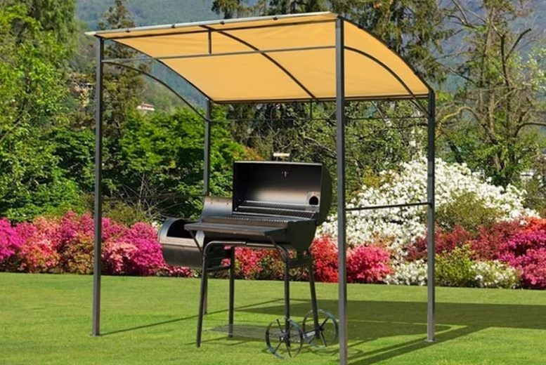 Image of £109 instead of £130.99 for a Beige Garden BBQ Canopy from Mhstar Uk Ltd - save 17%