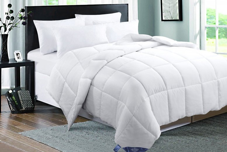 Image of From £17.99 for a single 4.5 tog duck feather and down duvet, £21.99 for a double duvet, £24.99 for a king size duvet or £27.99 for a super king duvet from Direct Warehouse Ltd - save up to 56%