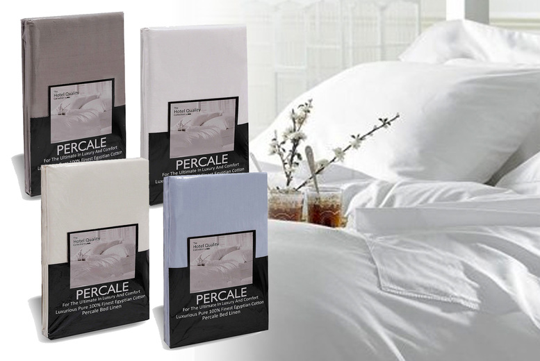 Image of £9.99 instead of £12.95 for an Egyptian cotton small double fitted bed sheet in white, sky blue, grey, cream, duck egg, navy blue or coffee latte from Love 2 Sleep - save 23%