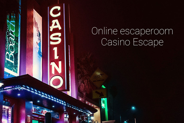 Image of £7.99 instead of £17.49 for an online escape game for up to six people from Casino Escape - save 54%