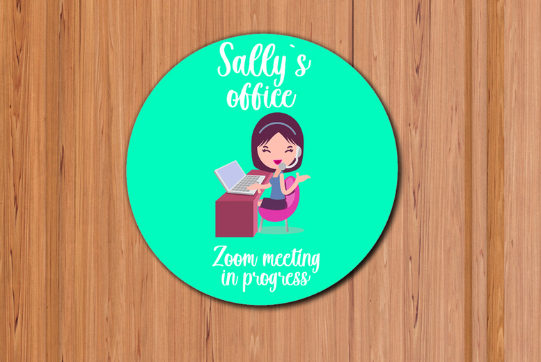 Image of From £12 for a personalised home office sign from Gallery SI Limited t/a Colour House - save up to 73%