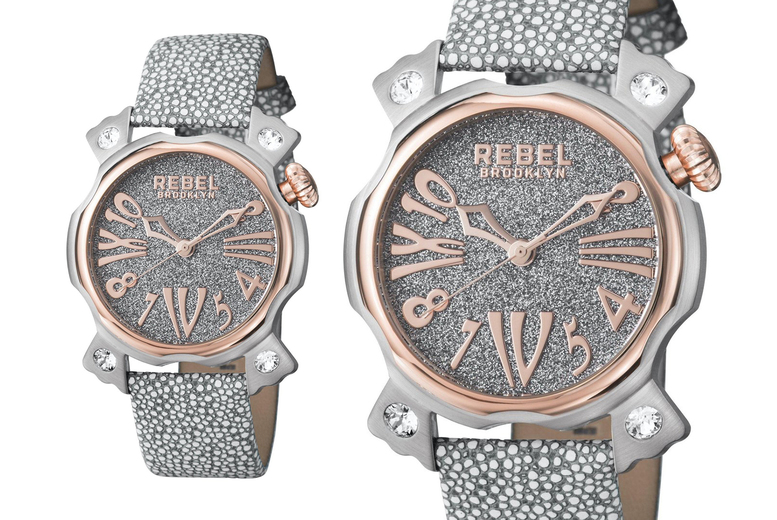 Image of £109 instead of £193 for a Rebel Coney Island ladies silver watch - Save 44% from Rebel Brooklyn! - Save 43%