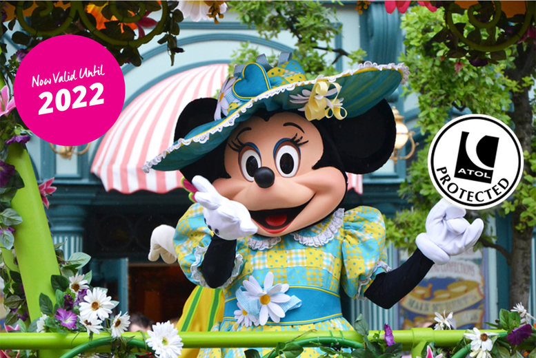 Image of A Disneyland Paris, France hotel stay with return flights from eight airports. From £99pp for two nights, from £129pp for three nights, or from £149pp for four nights - save up to 49%