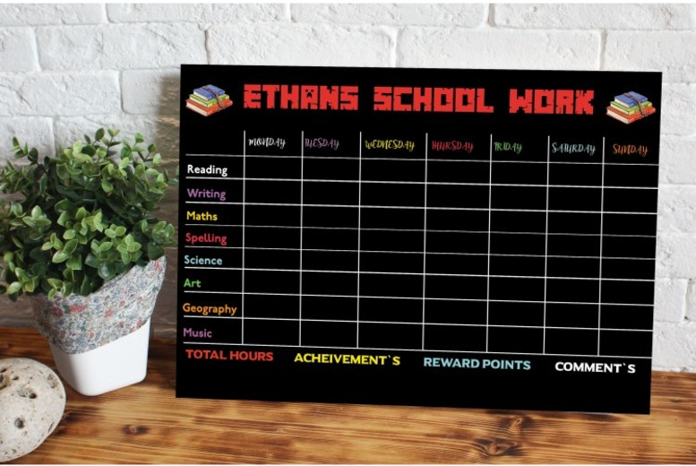 Image of From £12 for a Personalised School Planner - 2 Sizes! from Gallery SI Limited t/a Colour House - save up to 76%