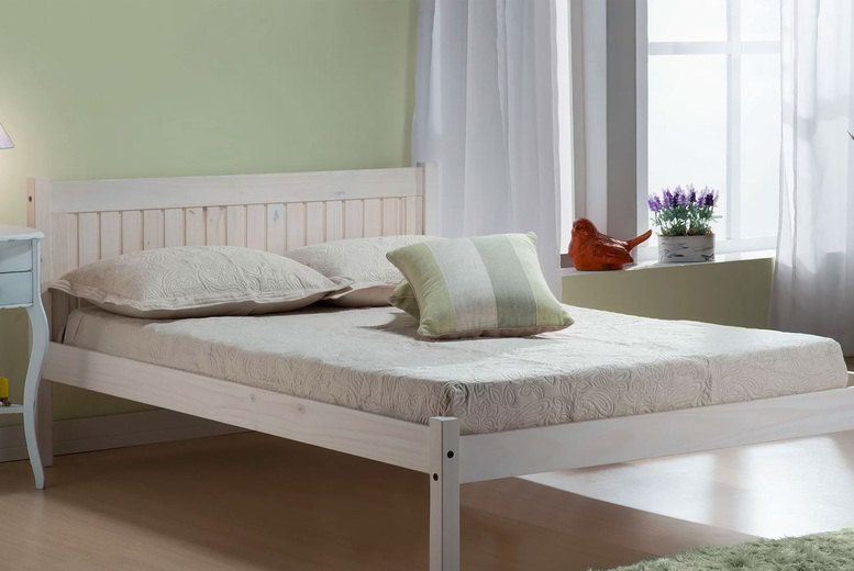 Image of From £149 instead of £294.99 for a solid pine bed frame from FTA Furnishing - choose your size, colour and save up to 49%