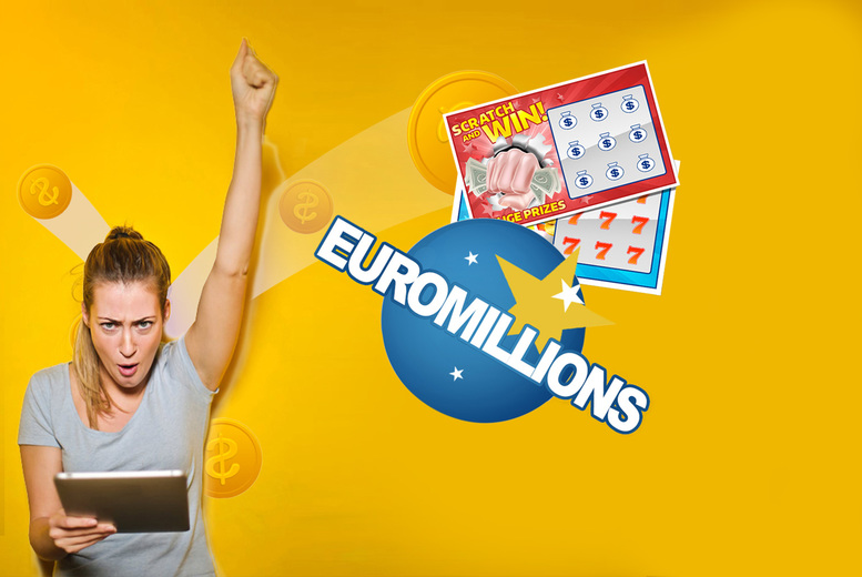 Image of £9 instead of £50 for 500 EuroMillions syndicate lines and 250 online syndicate scratch cards from Cheeky Lottos
