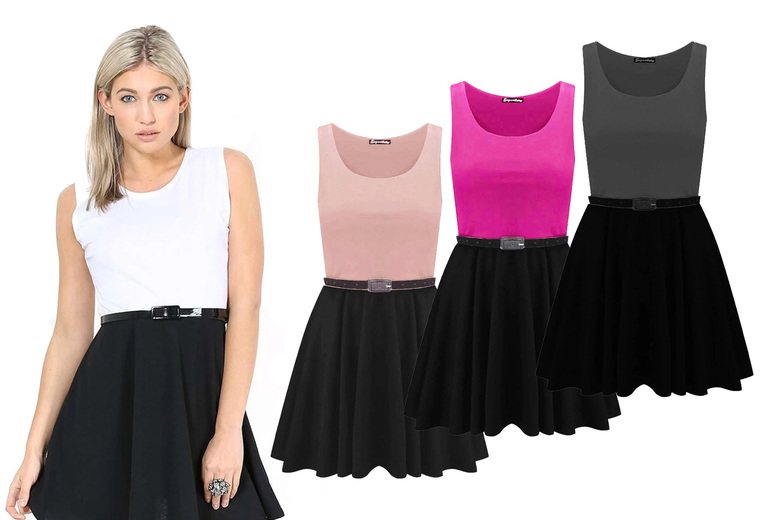 Image of £11 for a sleeveless skater dress from Be Jealous!