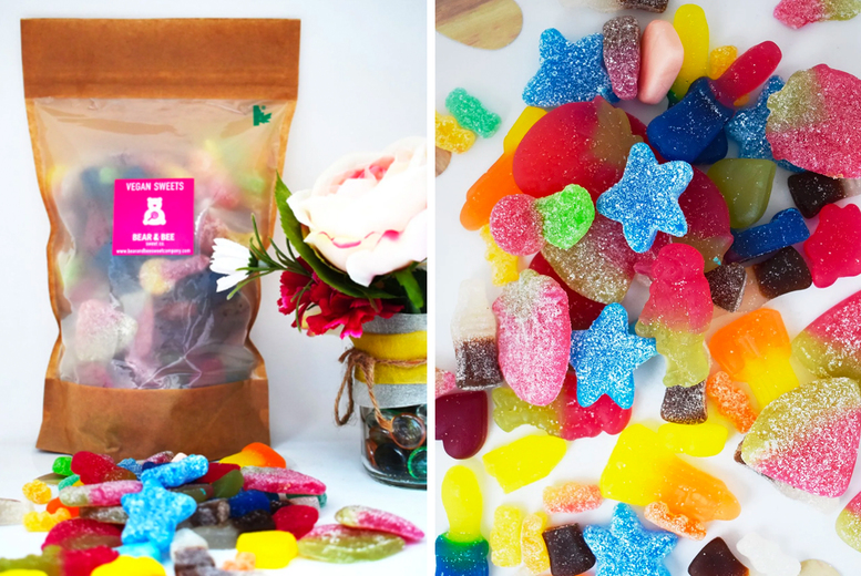 Image of £8 instead of £12 for a 1kg vegan or gluten free vegan gummy sweets bag from Bear and Bee Sweet Co, £15 for a 2kg bag - save up to 33%