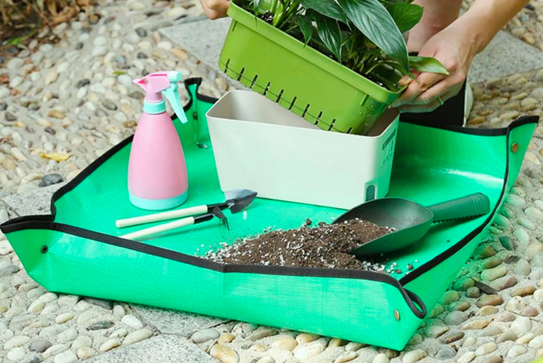 Image of From £6 instead of £29.99 for an waterproof indoor plant repotting mat in your choice of three sizes from Wish Whoosh Offers – save up to 80%