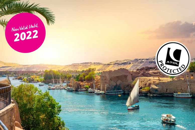 Image of A 14-night Egypt fly cruise with a 5* all-inclusive Hurghada hotel stay, full-board River Nile cruise and return flights from five airports. From £459pp - save up to 62%