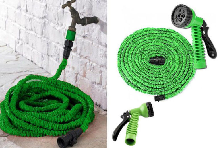 Image of From £6.99 instead of £29.99 for an expandable hose with tap fitting and seven-dial spray gun from Groundlevel - choose from four sizes and save up to 77%