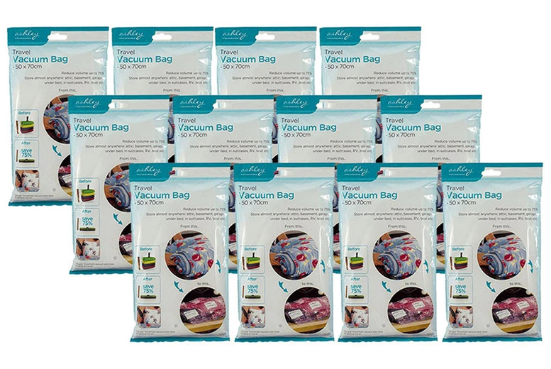 Image of From £4.95 for a travel vacuum bags from Avant-Garde Brands Ltd - save up to 67%