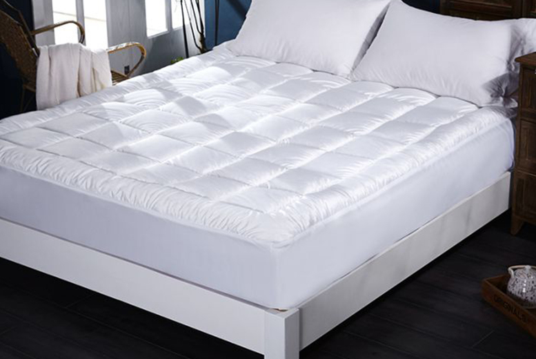 Image of From £22.99 for a 5cm an extra-soft plush mattress topper from Ground Level - save up to 8%