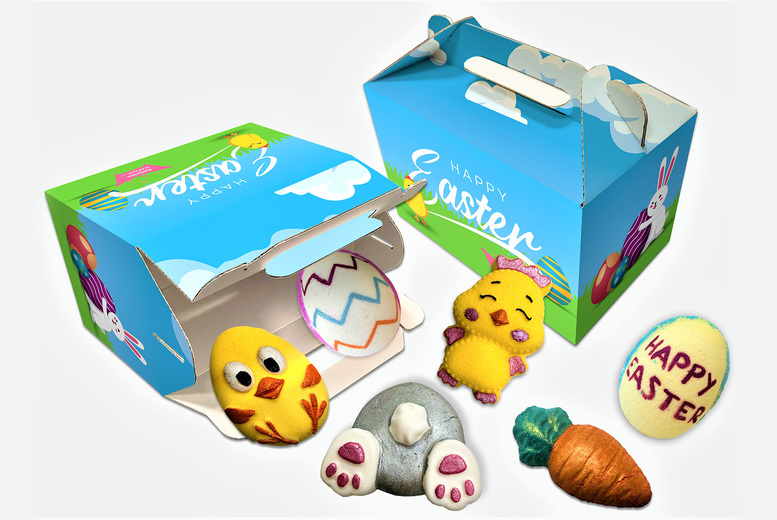 Image of £11.99 instead of £37.99 for a six piece easter bath bomb gift box Bathtime Boutique LTD - save 68%