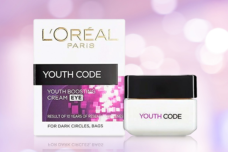 Image of £9.99 instead of £25.49 for a 15ml tub of L'Oreal Youth Code eye cream from Divinci Department - save 61%
