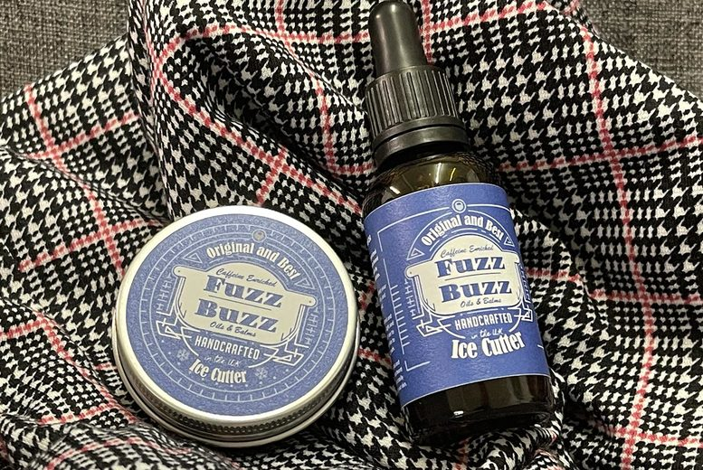 Image of £12.99 instead of £25.99 for a choice of beard oil and balm gift set from Fuzz Buzz - choose from four options and save 50%