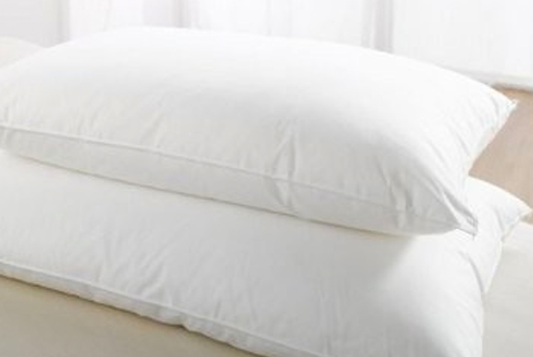 Image of £12.99 instead of £34.95 for two Egyptian cotton pillows from Love2Sleep - save 63%