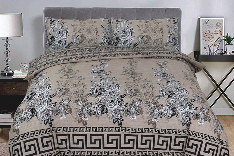 Image of £11.99 for a modern printed double duvet set, £12.99 for a king-size from Imperial Beddings!