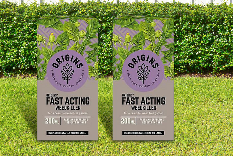 Image of £10.99 instead of £29.99 for a two-pack of fast acting weedkiller from Anything 4 Home - save 63%