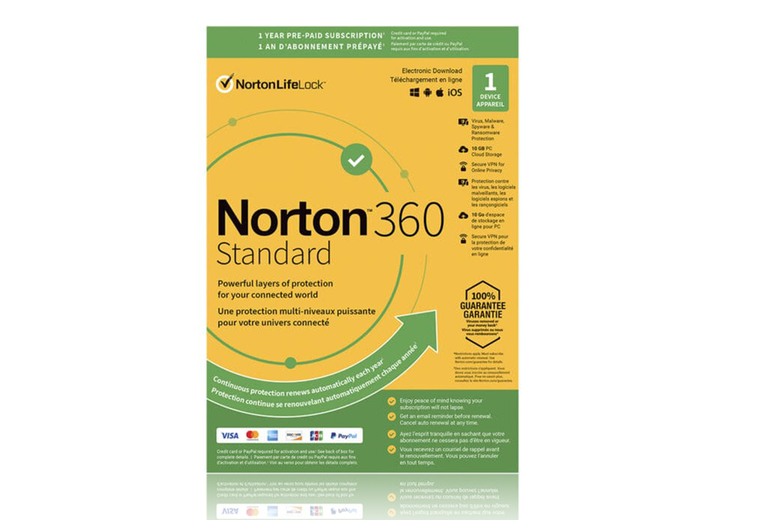 Image of £12.99 instead of £14.99 for Norton 360 Standard on one device for one year from Download Buyer - save 13%