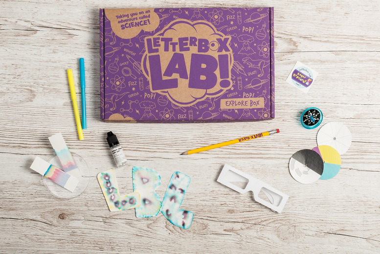 Image of £7.99 instead of £12 for a one month science kit subscription box for children from Letterbox Lab - save 33%