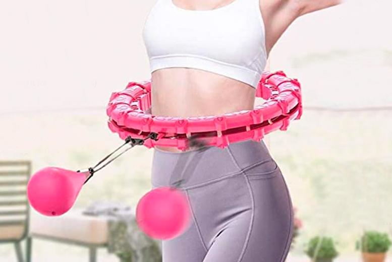 Image of From £14.99 instead of £49.99 for a smart fitness hula hoop from Forefront - choose from four sizes and save up to 70%