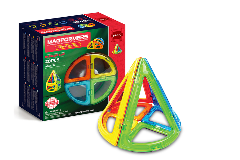 Image of £17.99 for a Magformers Curve 20-piece shapes set!