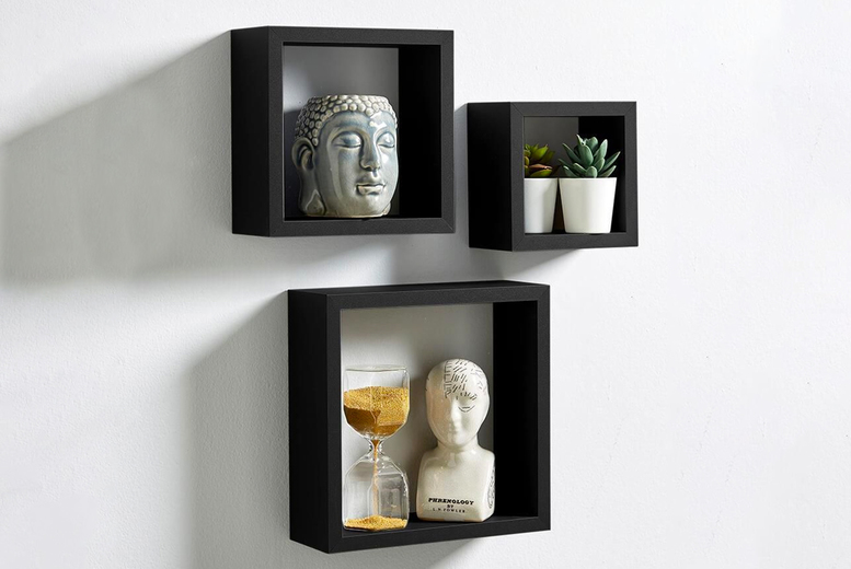 Image of £14.99 for a set of three Berkley floating cube shelves from Furniture Dealz!