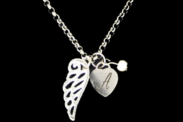 Image of £6.99 for a personalised silver-plated guardian angel wing pendant from My Name Chain!