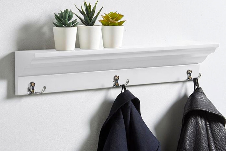 Image of £19.99 for a coat hook shelf from Furniture Dealz!