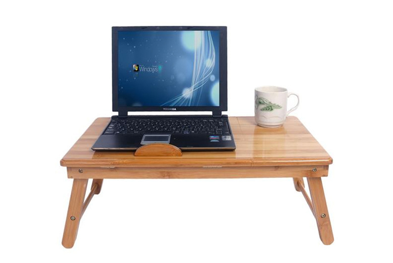 Image of £29 for a 53cm foldable bamboo laptop stand from Cufflinks Gift Hub!