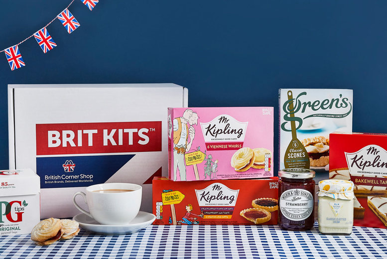 Image of £3 for a 40% off afternoon tea kit from British Corner Shop