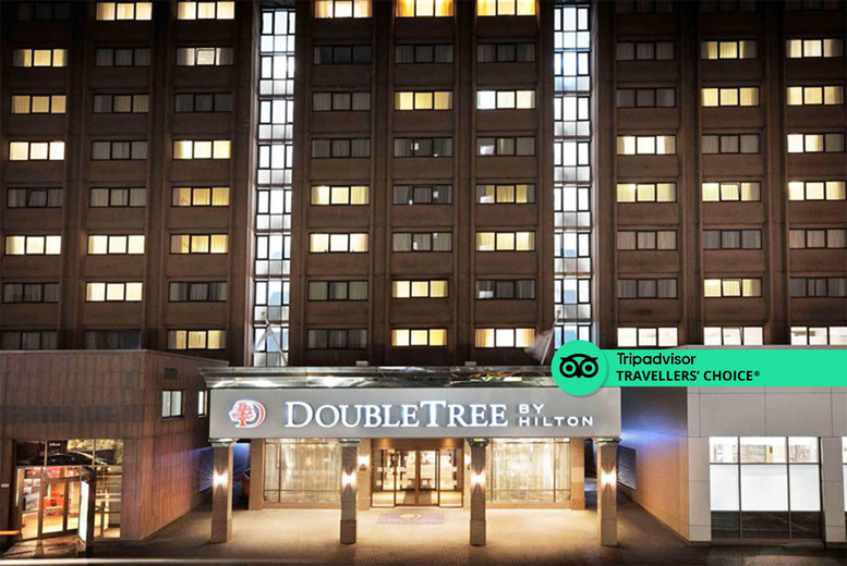 Image of A Glasgow stay at 4* Doubletree by Hilton Hotel Glasgow Central for two people with grab & go breakfast, one bottle of wine and 1pm late check out. From £89 for an overnight stay - save up to 36%