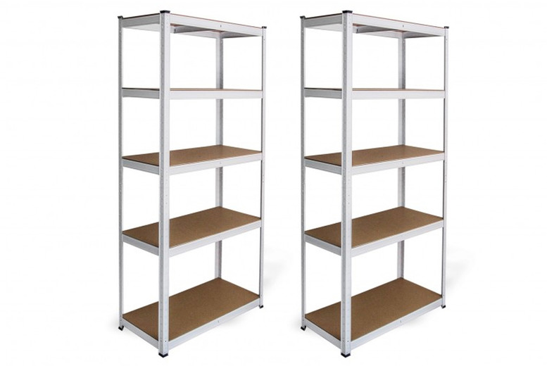 Image of £24 instead of £59.99 for one white rack unit or two for £45 from Monster Shop - save 60%