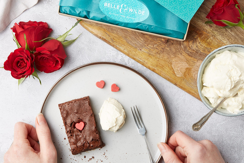 Image of £3 for 50% off a choice of personalised letterbox brownie from Belle & Wilde