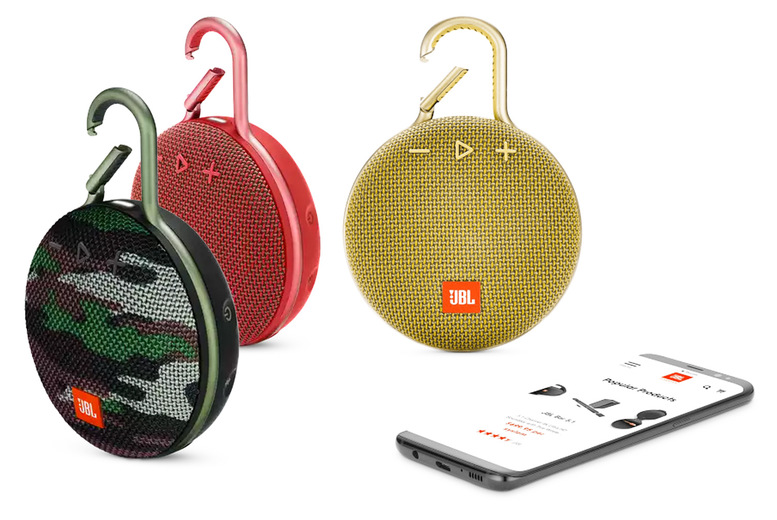 Image of £35.99 instead of £65 for a JBL waterproof carabiner speaker in camo, red or yellow from Magic Vision - save 45%