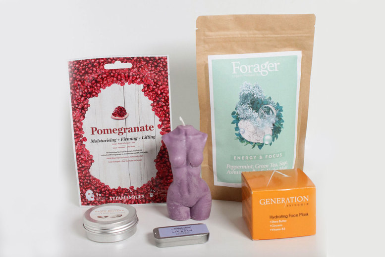 Image of £19 instead of £50 for a Good Vibes, Good Energy Home Pamper Packagewith six relaxing products from Feel Good Box - save 62%