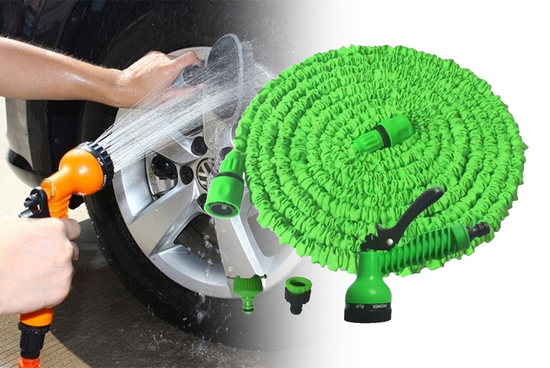 Image of From £8.99 instead of £49.99 for a 25ft magic expanding garden water hose pipe from Wish Imports - save up to 82%