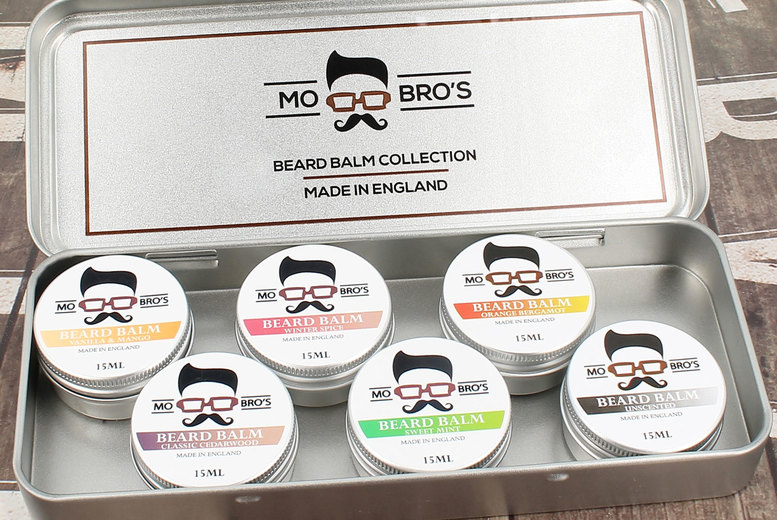 Image of £9.99 instead of £18 for a beard balm styling gift set with six products from Mo Bros - save 45%