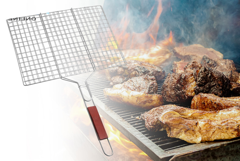 Image of £6.99 instead of £29.99 for a large rectangular barbecue grill from Fusion Online - save 77%