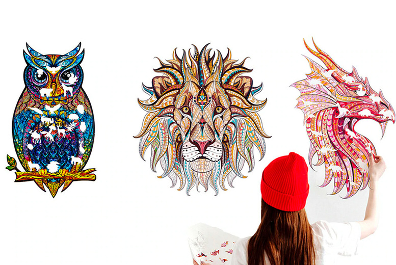 Image of £7.99 for a large PVC animal sticker in lion, owl, tiger or dragon designs from J&Y Distribution!