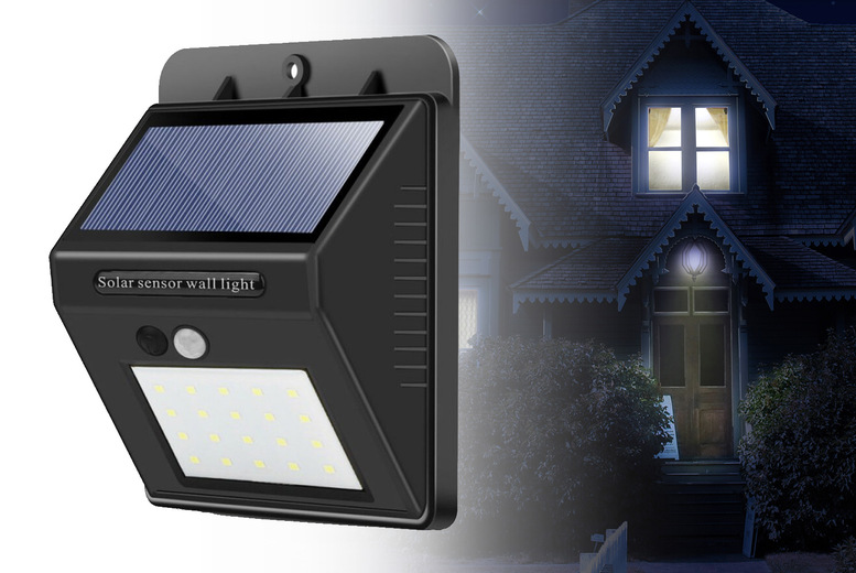 Image of £12.99 instead of £59.98 for two solar power motion sensor security lights, £19.99 for three or £22.99 for four from Bellap - save up to 78%