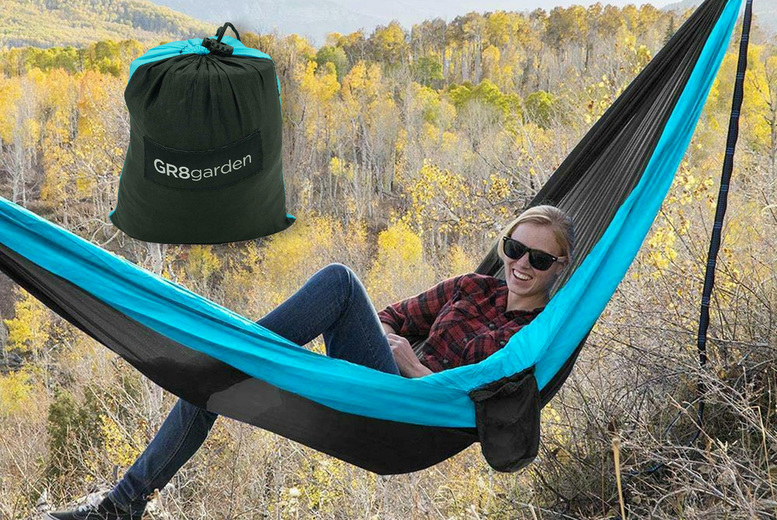 Image of £11.99 instead of £39.99 for a lightweight hammock from Eurotrade - save 70%