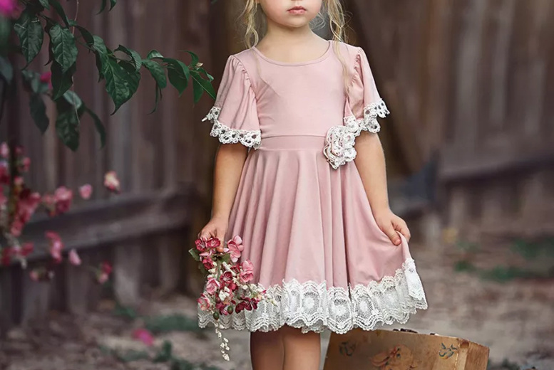 Image of £11.99 instead of £39 for a girl's dusty rose party dress from I-nod - save 69%