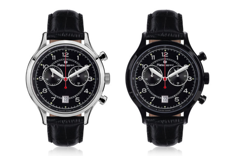 Image of From £189 for a men's Mathieu Legrand 'Orbite Polaire' leather watch from Rotatio - choose from four designs + DELIVERY IS INCLUDED!