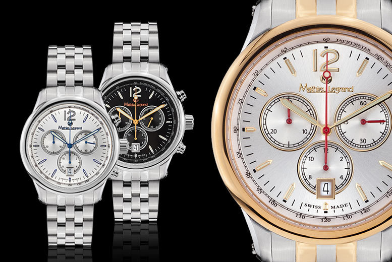 Image of £199 for a men's Swiss-made Mathieu Legrand 'Clasique' watch - select from three designs from Rotatio