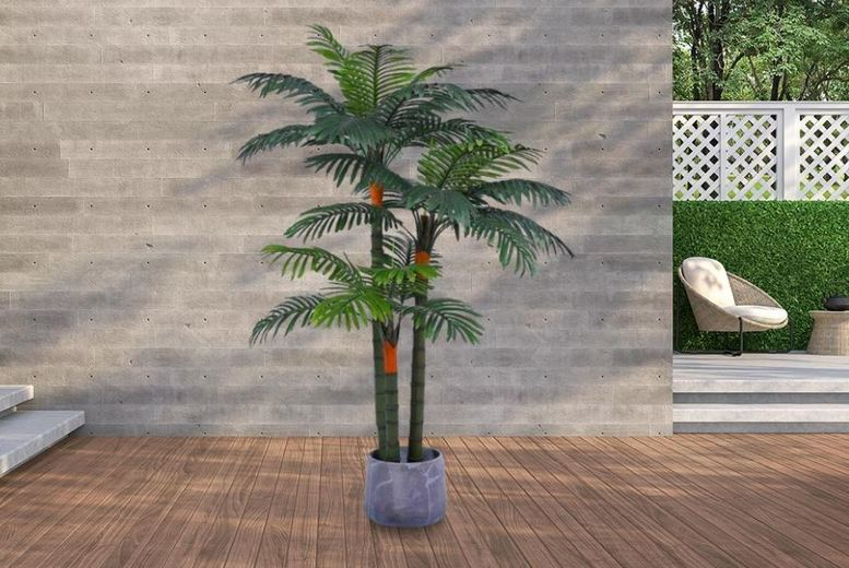 Image of From £89 for a Stunning Set of 3 Artificial Palm Trees from 5IVE LTD - save up to 41%