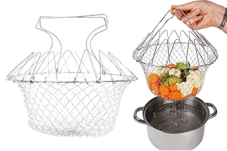 Image of £10.99 instead of £29.99 for a multifunctional cooking basket from Wishwhooshoffers - save 63%
