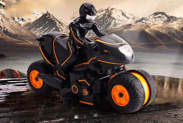 Image of £22.99 instead of £45 for a RC remote control 2.4G motorcycle in orange or green from TopGoodChain – save 49%